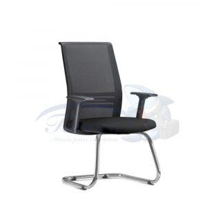 Cadeira Interlocutor Torres Agile base cromada e braço