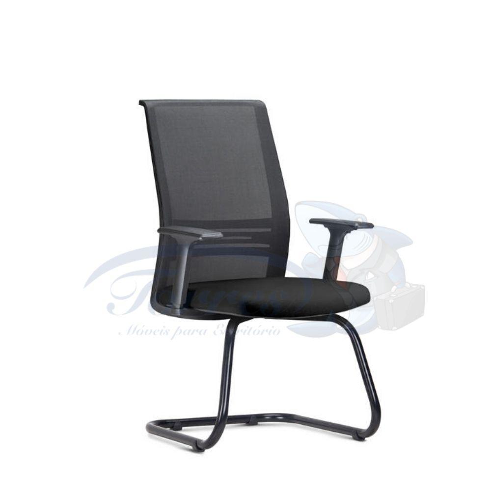 Cadeira Interlocutor Torres Agile base preta e braço