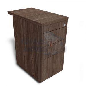 Gaveteiro Torres Case fixo complemento de mesa 2 gaveta e 1 gavetão sem puxador