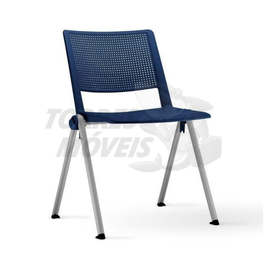 Cadeira torres up azul pé cinza