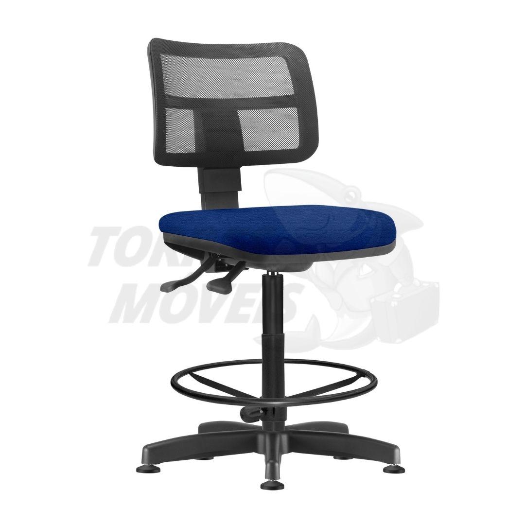 cadeira caixa zip sem braço encosto em tela