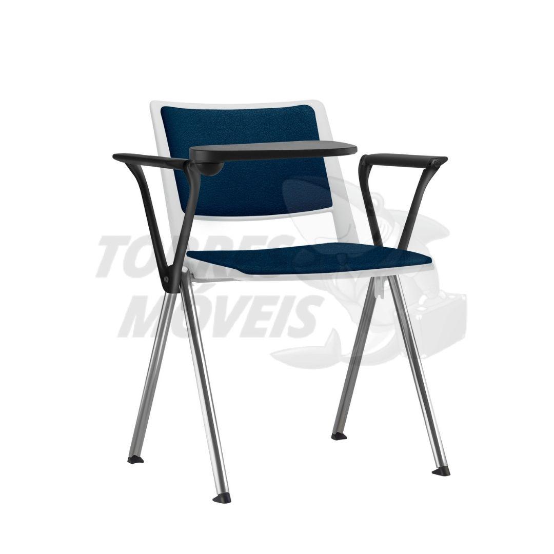 cadeira torres up fixa estofada com prancheta