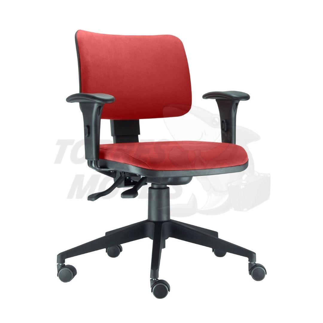 cadeira zip com braço encosto estofado
