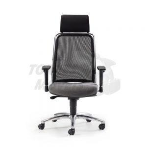 Cadeira Torres Soul encosto em tela e apoio de cabeça