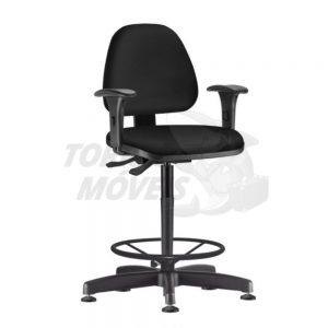 Cadeira Caixa Torres Sky fixa com braço com apoio de pés