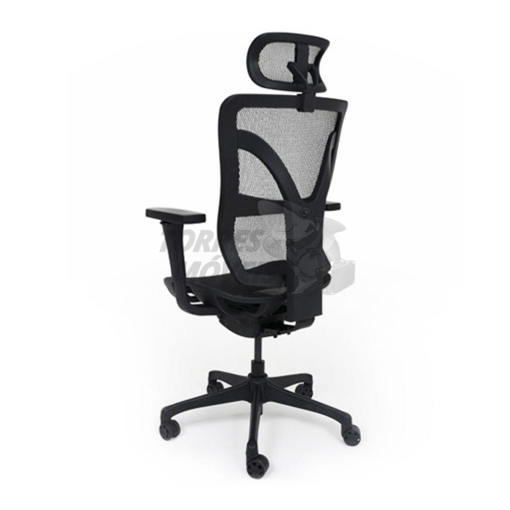 Cadeira Torres Darix Presidente em encosto de cabeça, encosto em tela base giratória