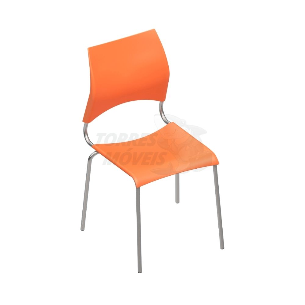 Cadeira polipropileno Torres Iris - fixa 4 pés