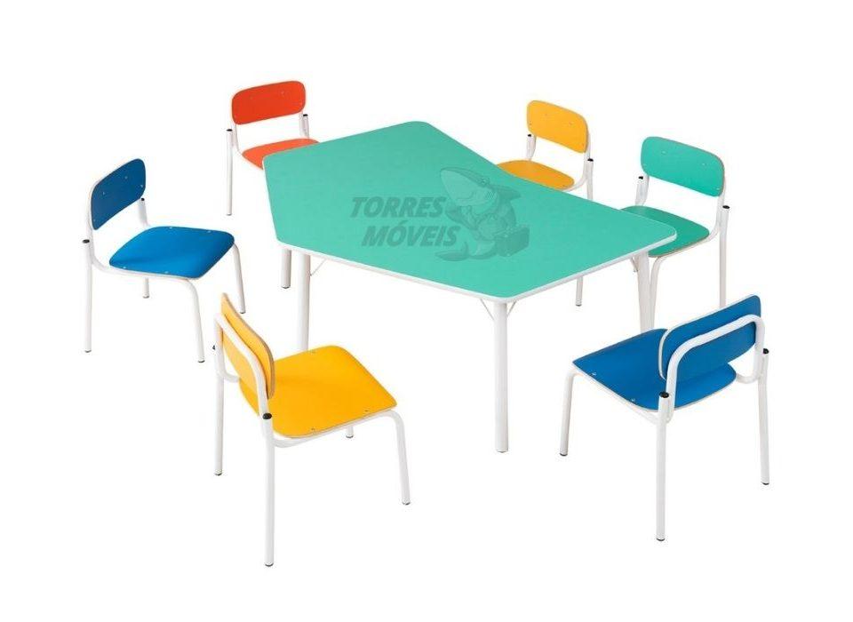 mesa escolar borboleta