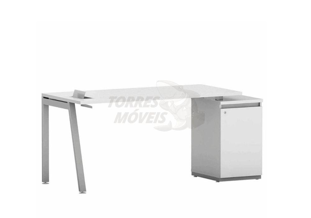 Mesa reta com armário 1 porta - Torres Laus