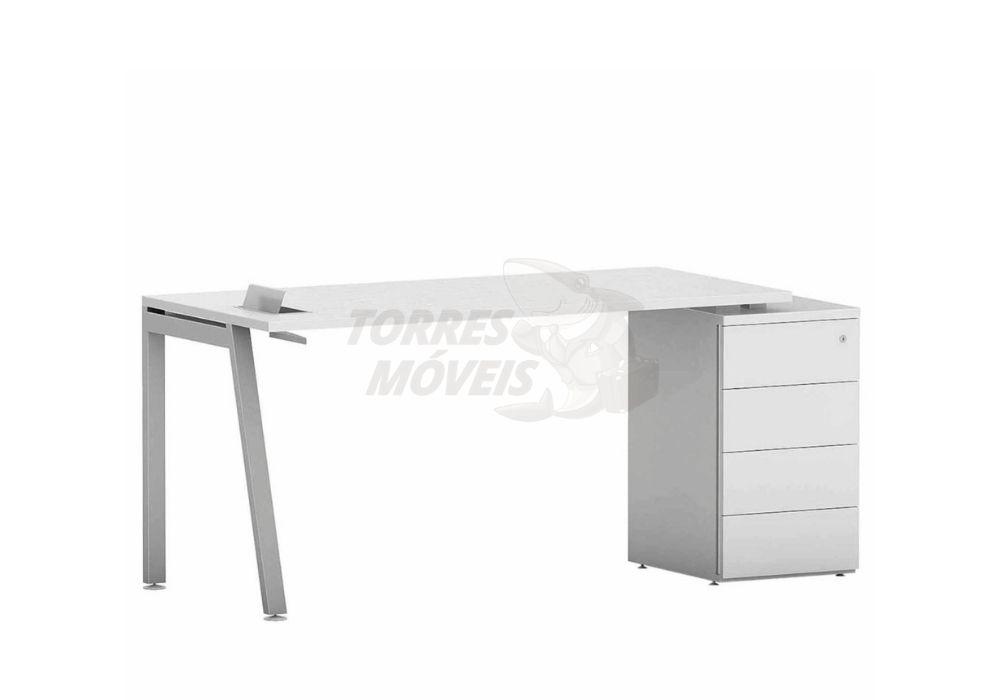 Mesa reta com gaveteiro - Torres Laus