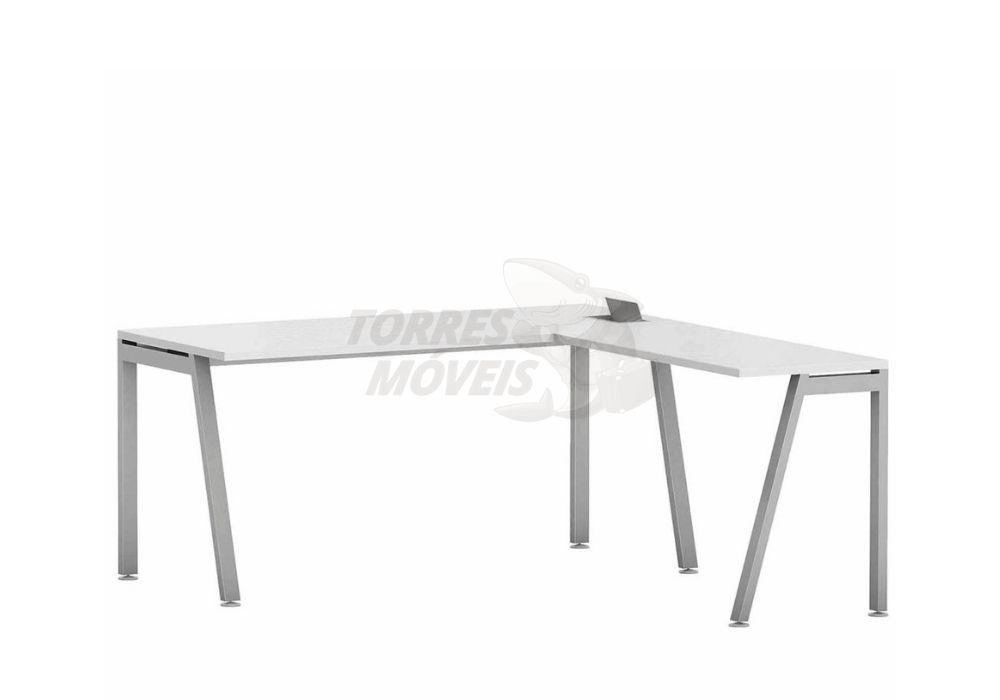 Mesa reta com mesa auxiliar - Torres Laus
